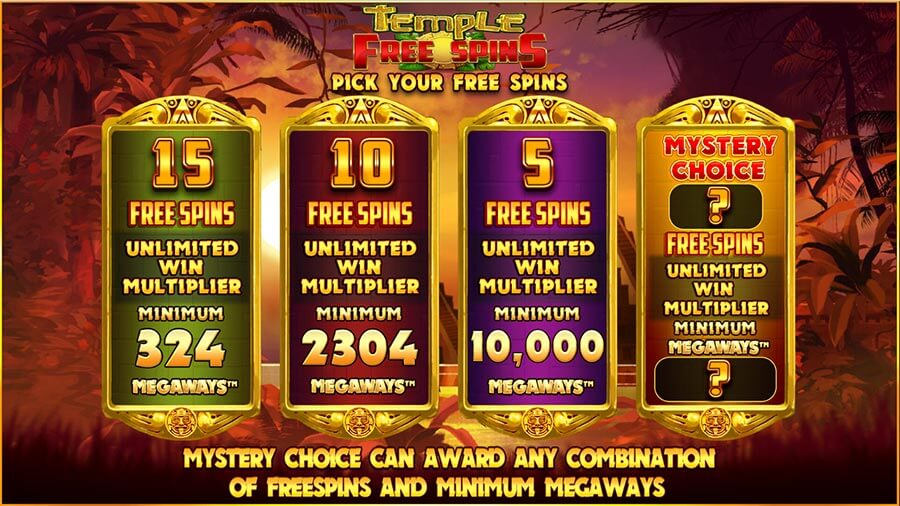 temple of treasure free spins