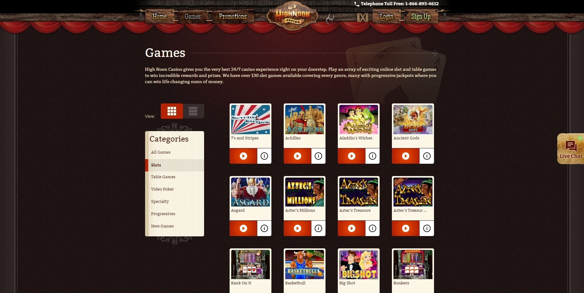highnoon casino slots