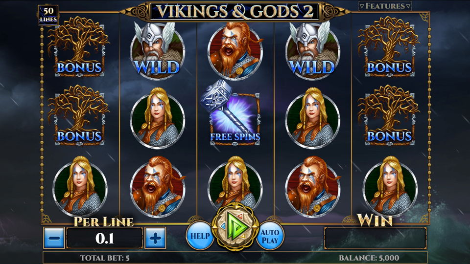 Vikings and Gods 2 slot gameplay