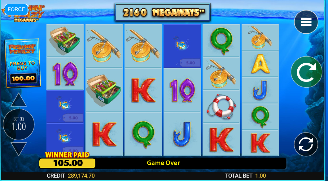 Fishin' Frenzy Megaways Slot