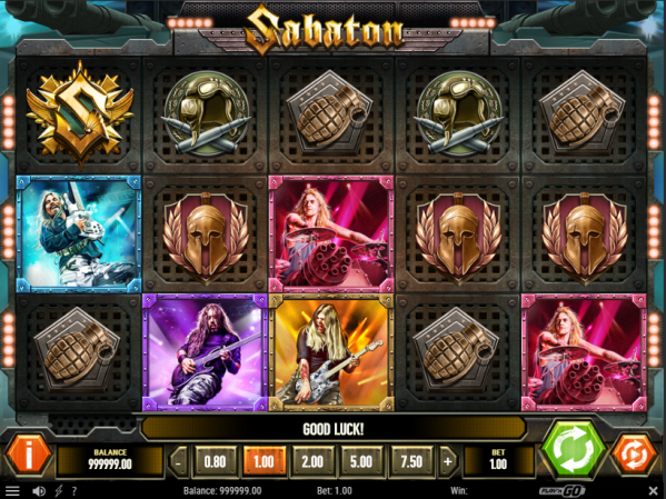 Sabaton Slot Gameplay