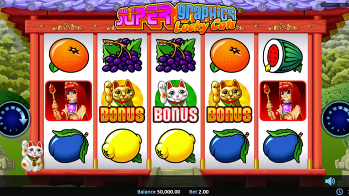 Super Graphics Lucky Cats Slot Gameplay