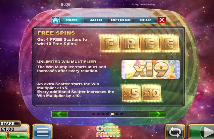 Opal Fruits Slot free spins