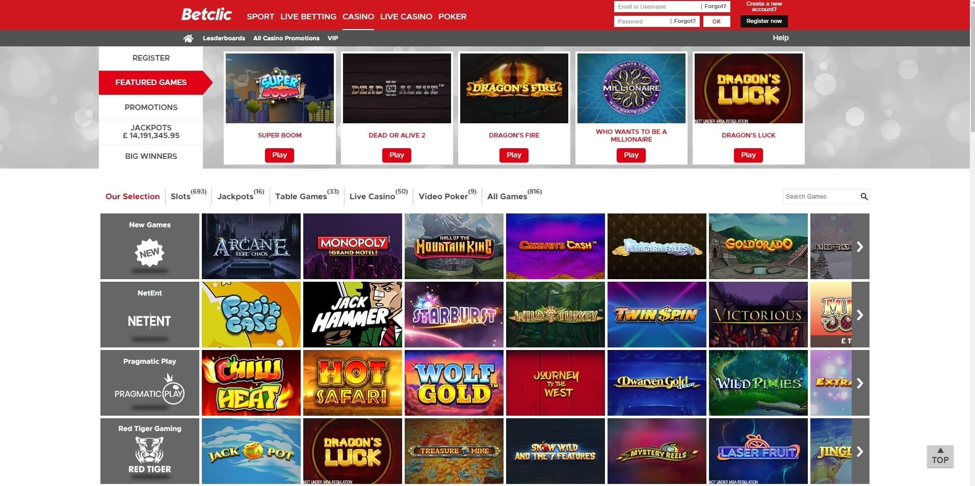 betclic casino slots