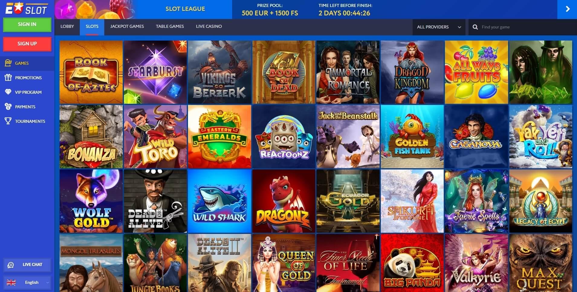 euslot casino slots