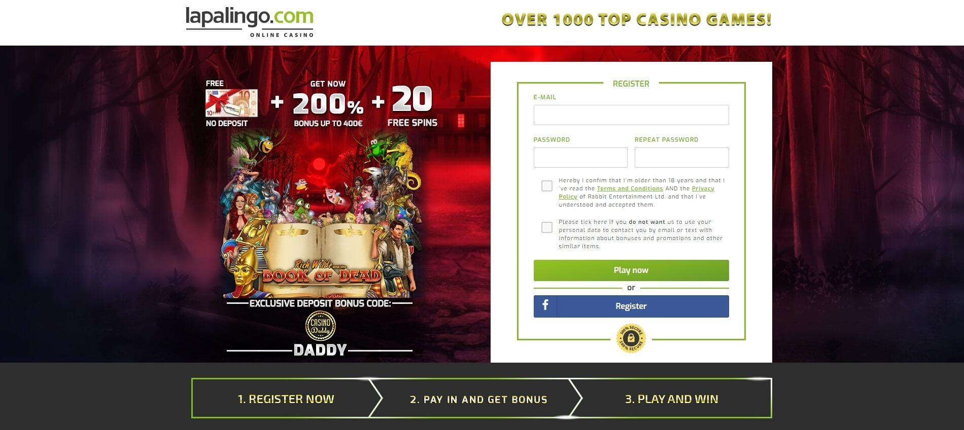 Anmeldebonus online casino