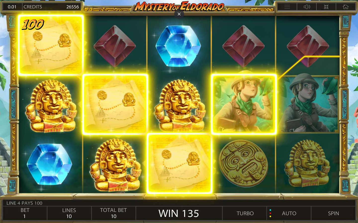 Mystery of Eldorado Slot Gameplay