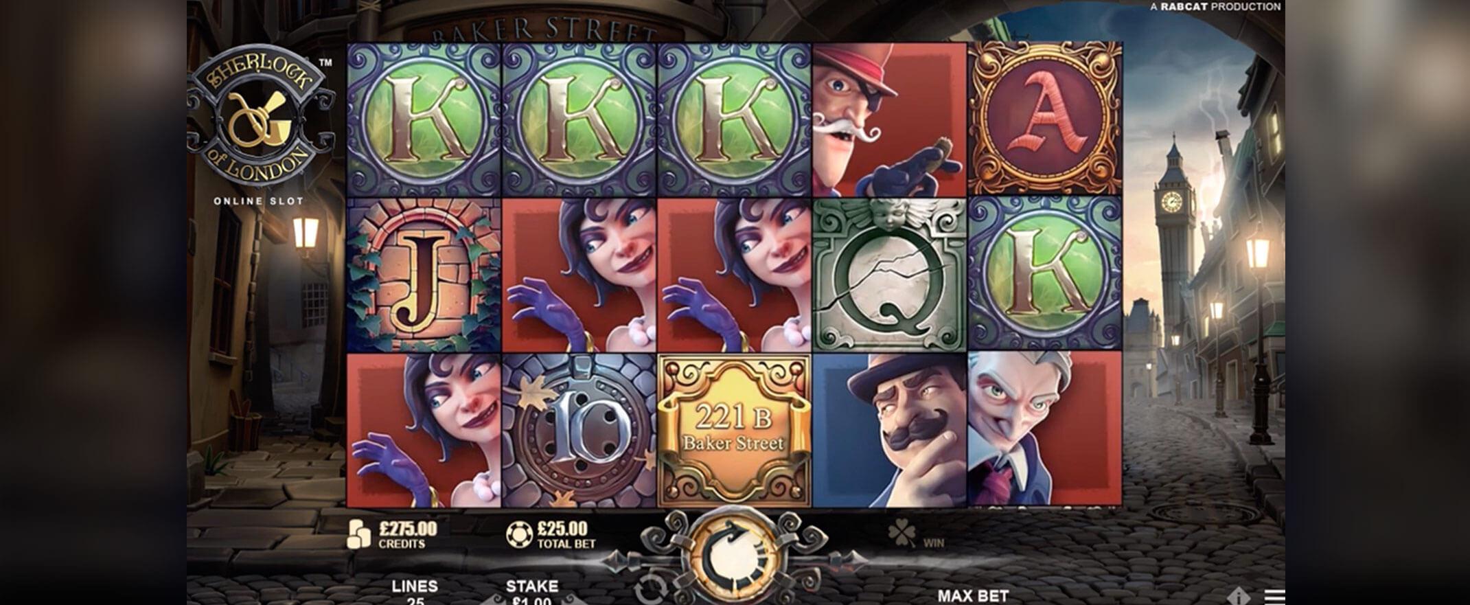 Sherlock of London Slot Gamepay
