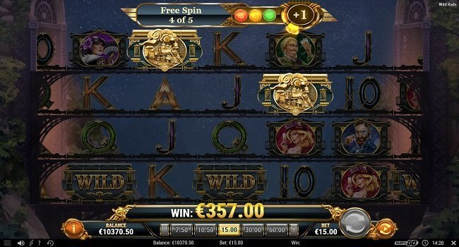 Wild Rails Slot Gameplay
