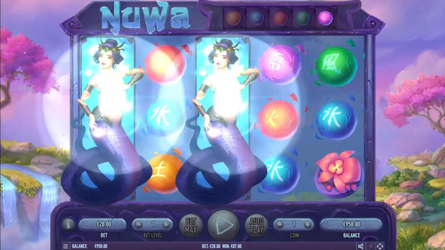 Nuwa Slot Gameplay