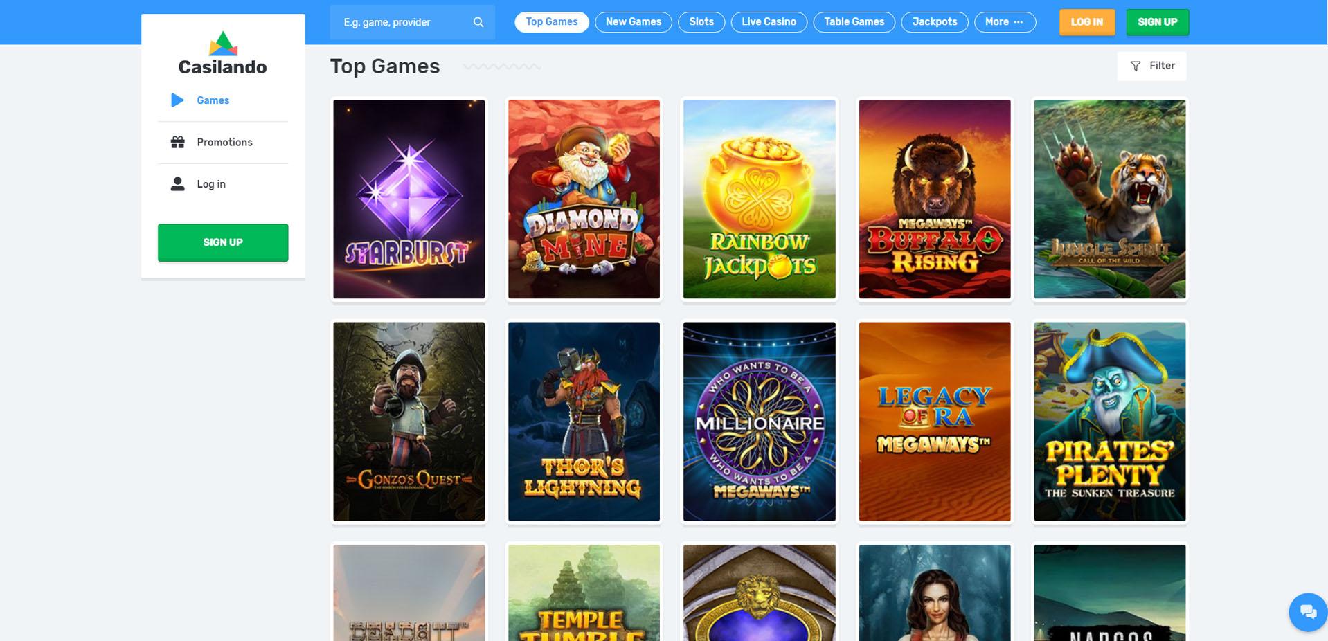 Casilando Online Casino Review And Bonus Aboutslots