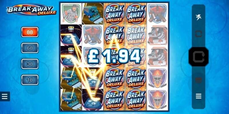 Break Away Deluxe Slot Gamepplay