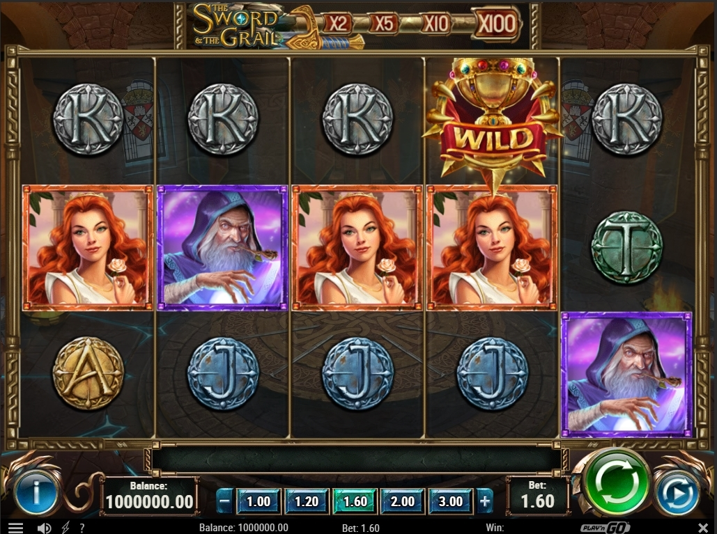 The Sword and the Grail Slot Gameplay