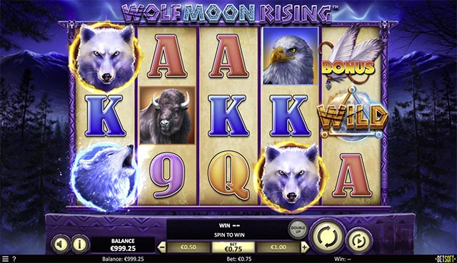 Wolf Moon Rising Slot Gameplay