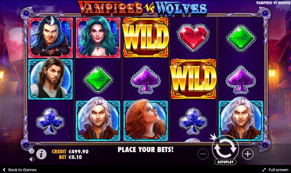Vampires vs Wolves Slot Gameplay