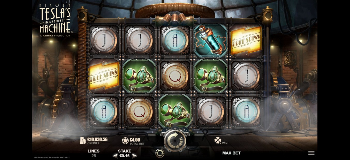 Nikola Tesla's Incredible Machine Slot Gameplay