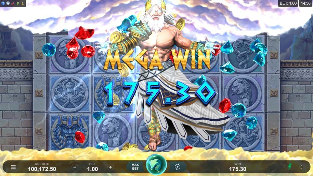 Ancient Fortunes Zeus Slot Gameplay
