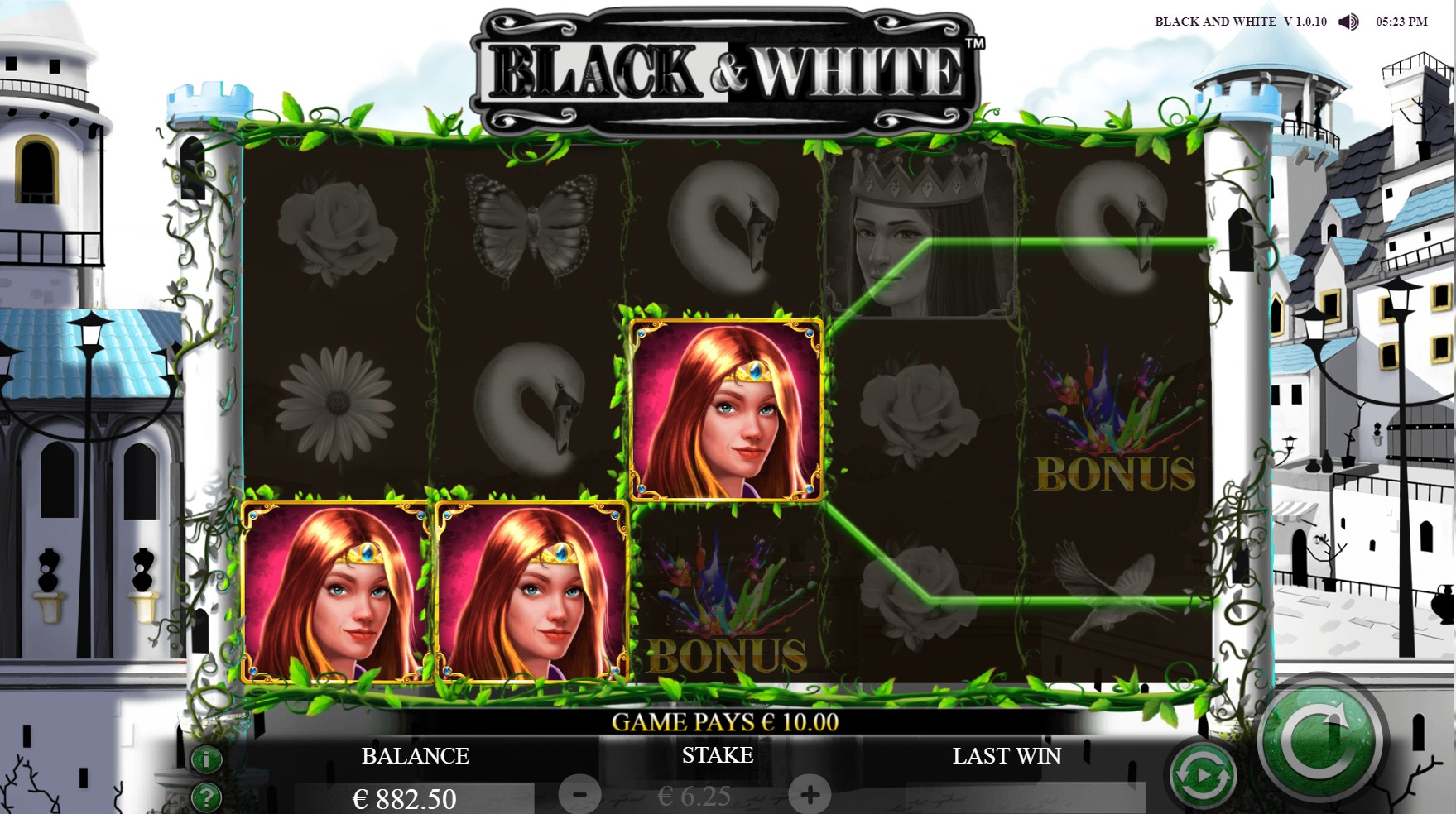 Black & White Slot Gameplay