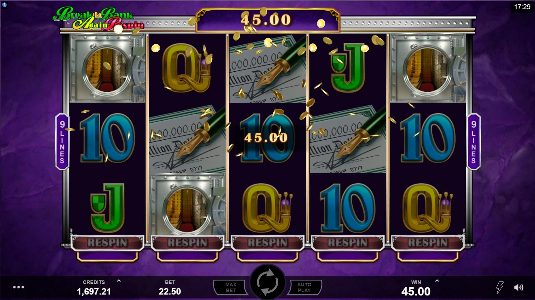 Break da Bank Again Respin Hyperspins Slot Gameplay