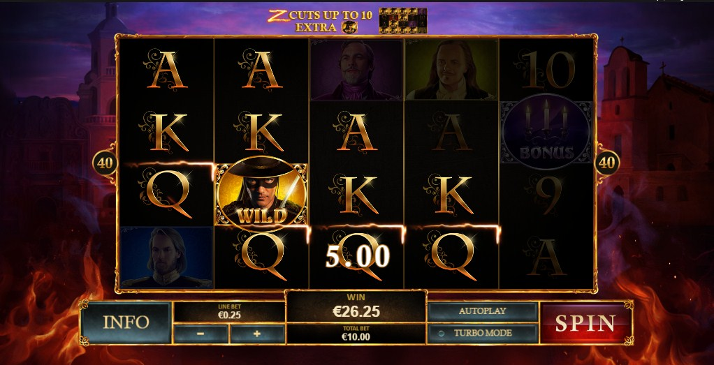 The Mask of Zorro Slot Gameplay