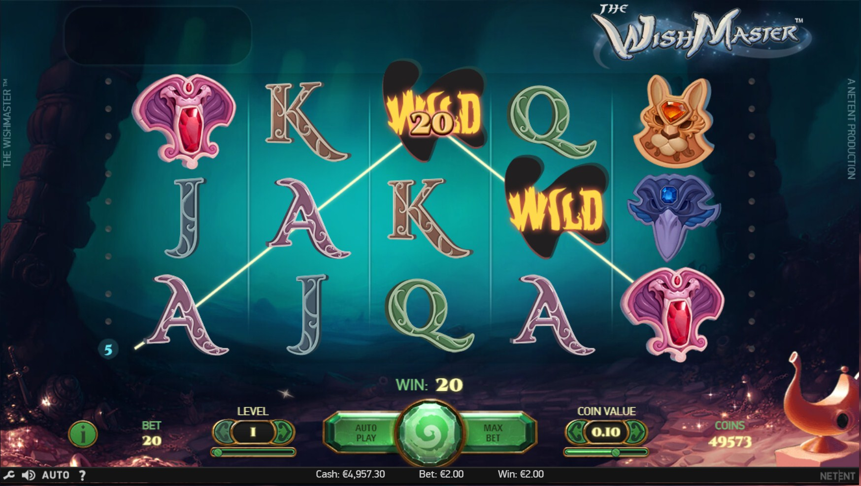 The Wish Master Slot Gameplay