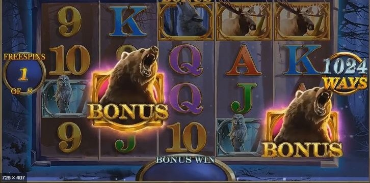 Giant Grizzly Slot Gameplay
