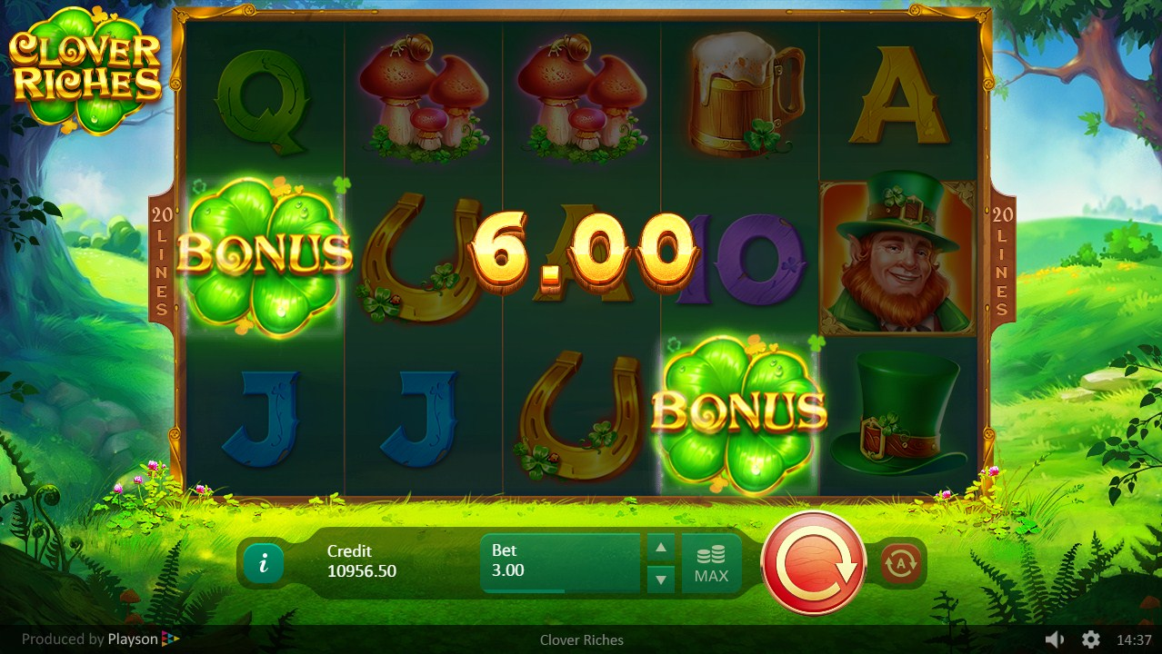 Clover Riches Slot Gameplay