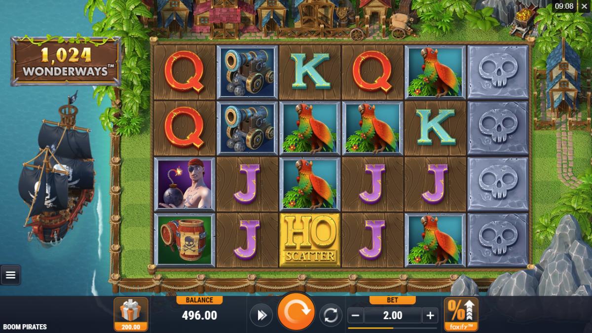 Boom Pirates Slot Gameplay
