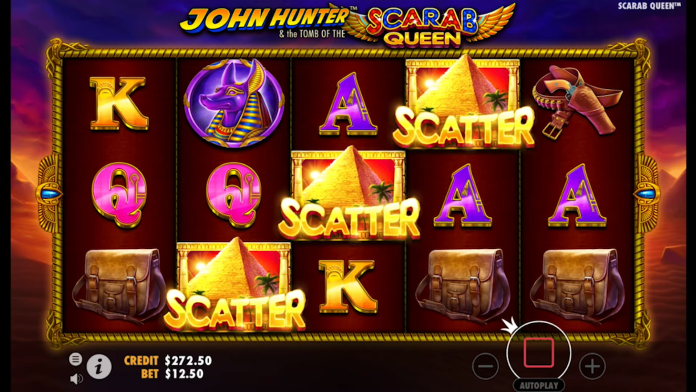 John Hunter and the Tomb of the Scarab Queen Slot Gameplay