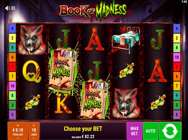 Book of Madness slot gameplay