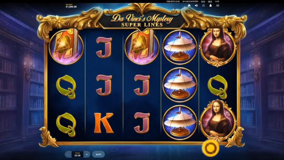 Da Vinci's Mystery Super Lines Gameplay
