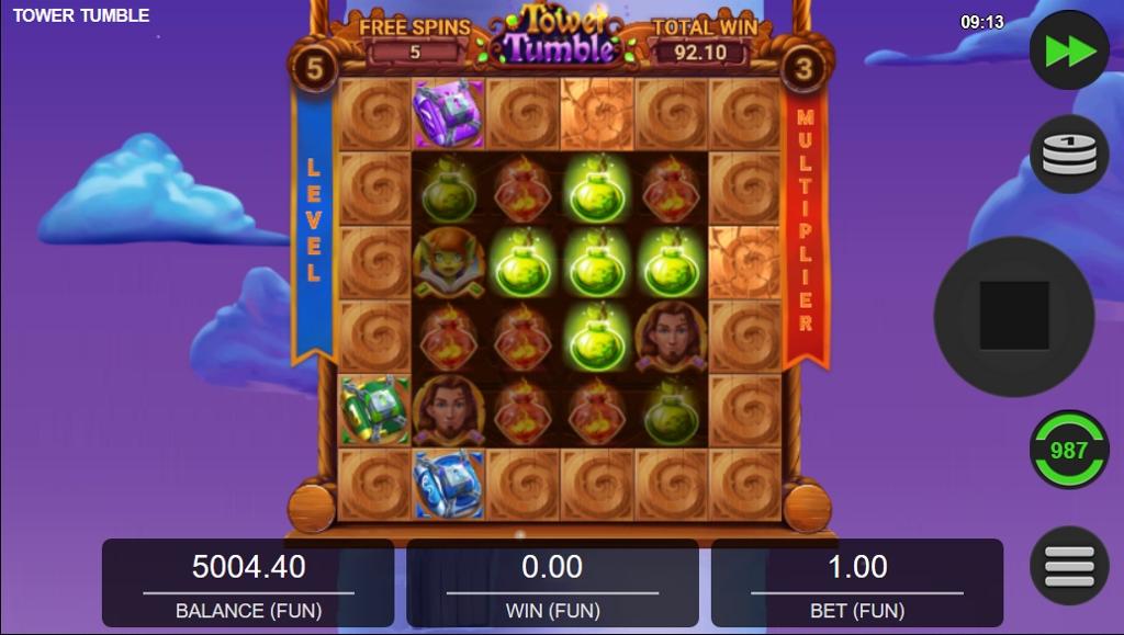 Tower Tumble Slot Gameplay