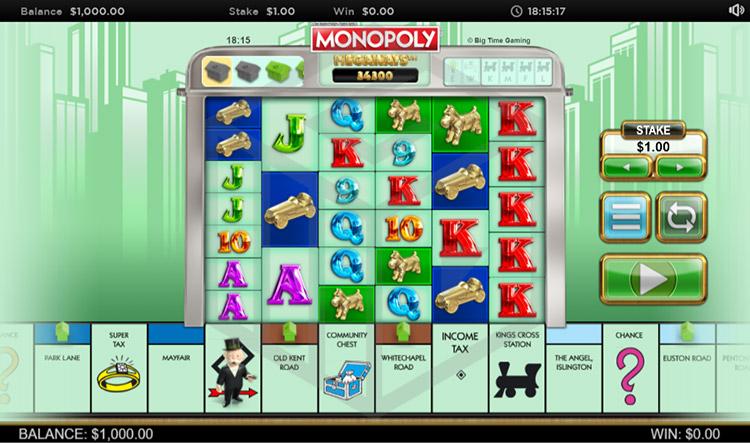 Monopoly Megaways Slot Gameplay