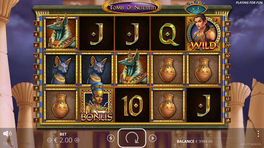 Tomb of Nefertiti Slot Gameplay