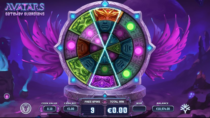 Avatars: Gateway Guardians Slot Gameplay
