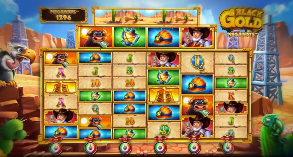Black Gold Megaways Slot Gameplay