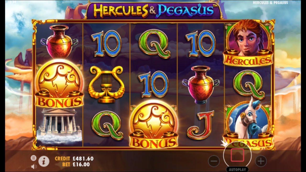 Hercules and Pegasus Slot Gameplay
