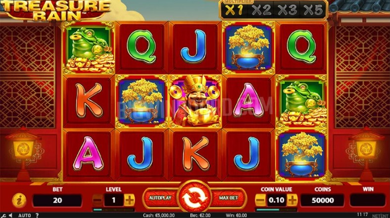 Treasure Rain Slot Gameplay