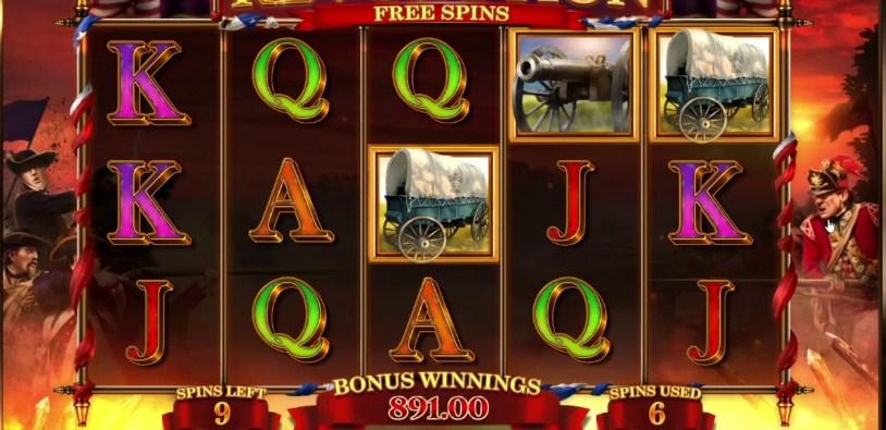 Revolution Patriot's Fortune Slot Gameplay
