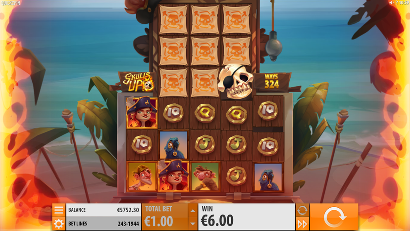 Skulls Up Slot Gameplay