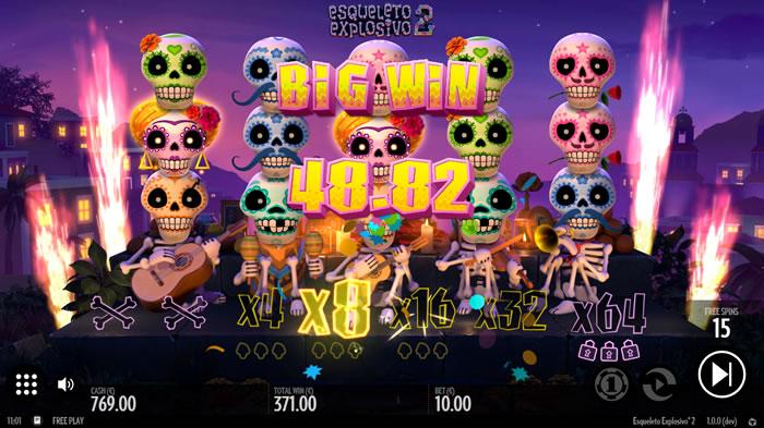 Esqueleto Explosivo 2 Slot Gameplay