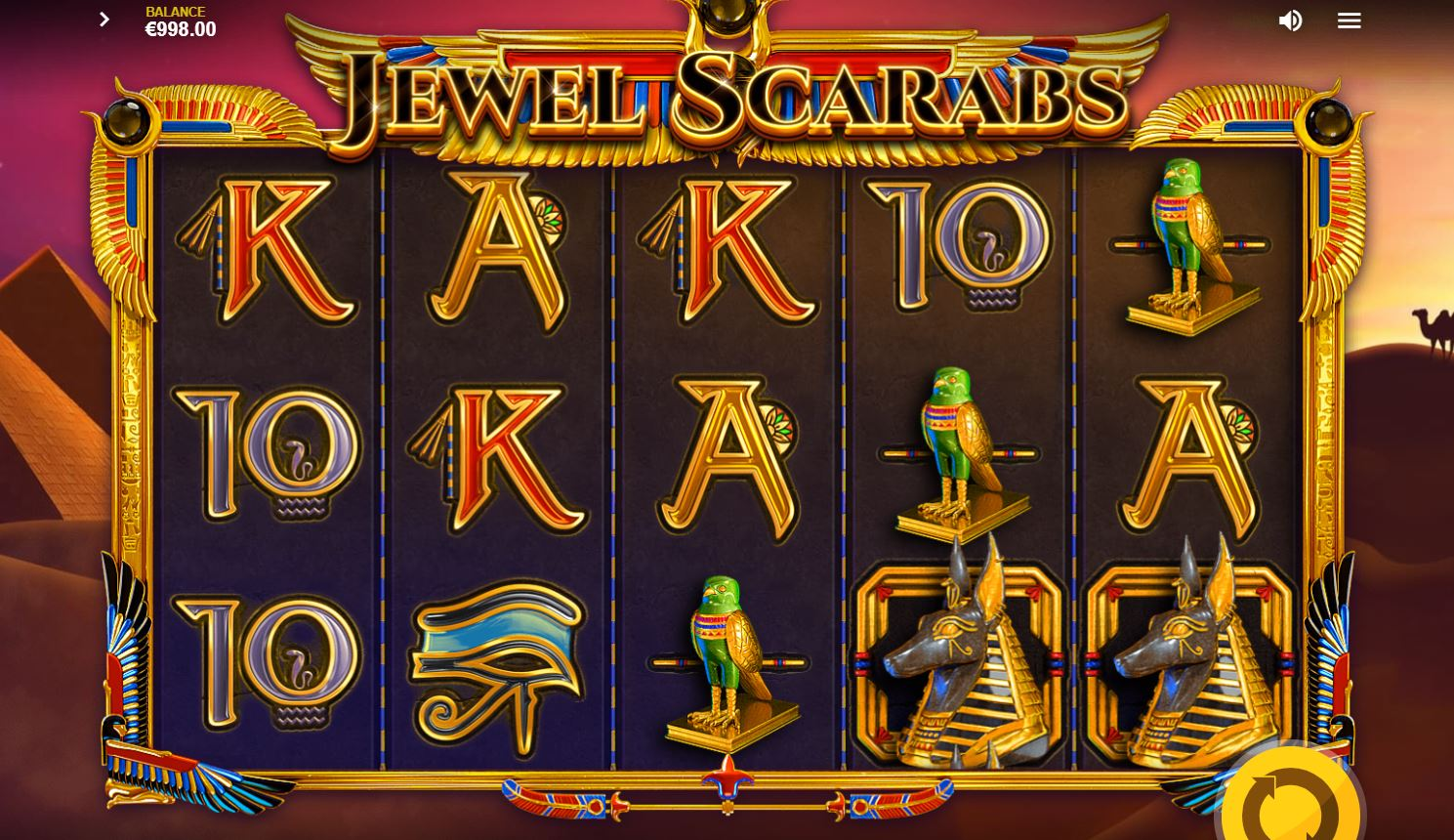 Jewel Scarabs Slot Gameplay