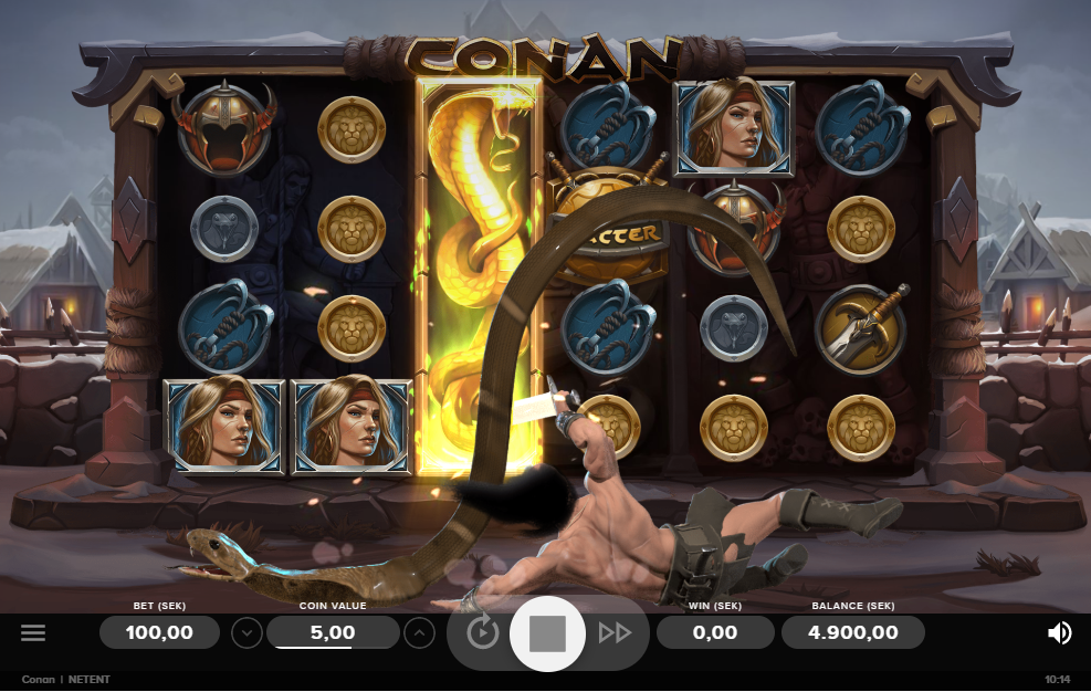 Conan slot gameplay