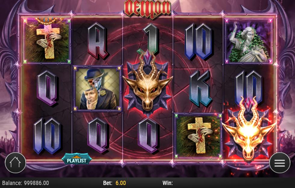 Demon slot gameplay