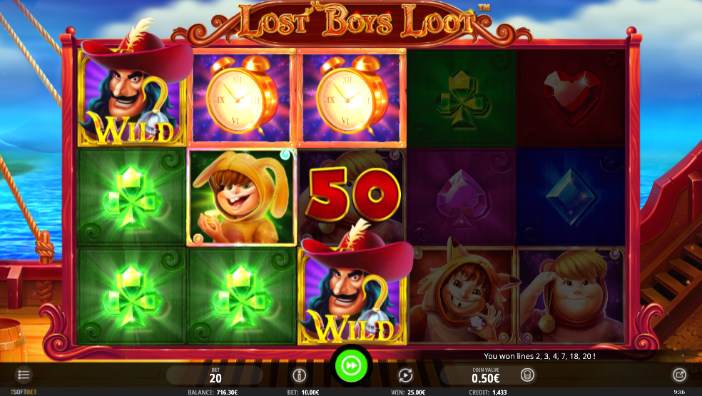 Lost Boys Loot slot gameplay