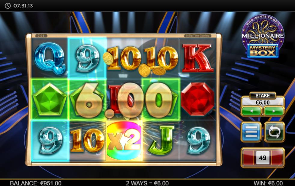 Millionaire Mystery Box slot gameplay