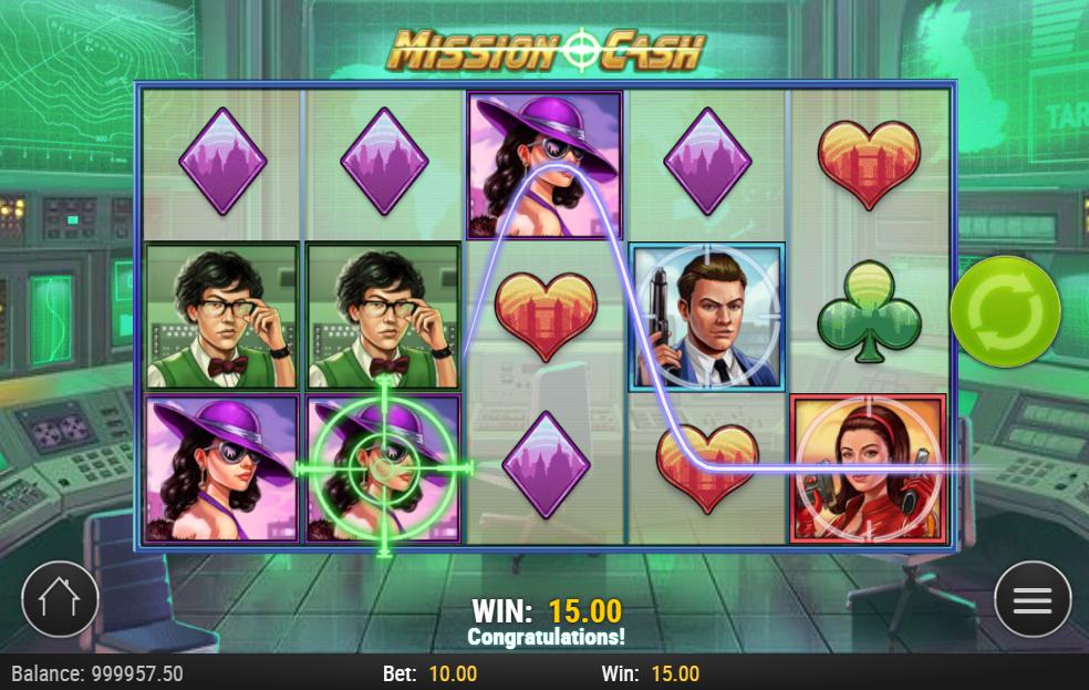 Mission Cash slot gameplay