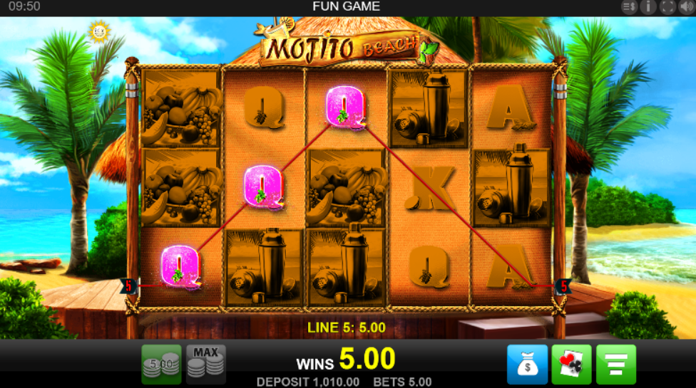 Mojito Beach slot gameplay
