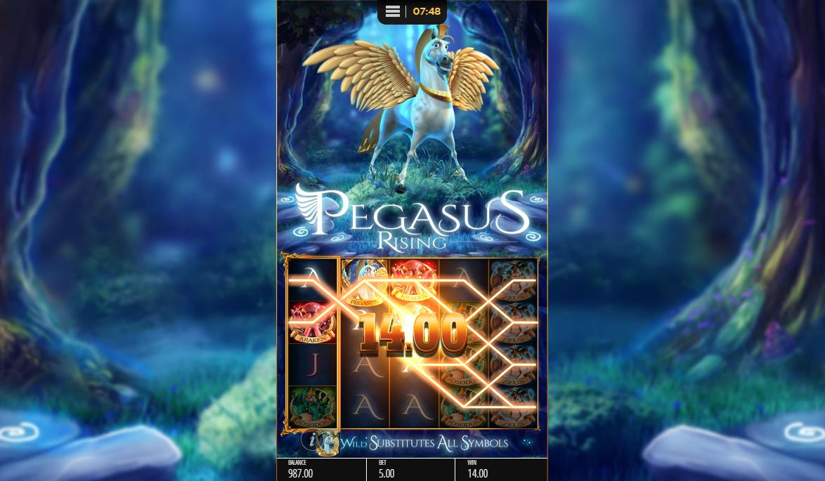 Pegasus Rising slot gameplay