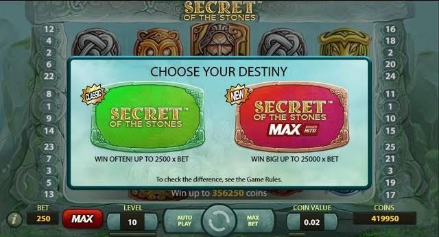 Secrets of the Stones MAX slot gameplay